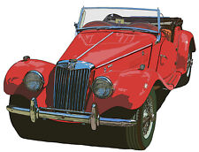 MG MG-TF 1500 sports car Richard Browne canvas print - red MG TF