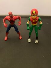 Robin And Spiderman Figures 3""