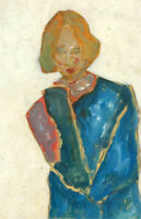 Ben Carrivick - Signed Contemporary Oil, Lady in Blue