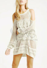 Cut Out Shoulder Fringe Beach Cover Up