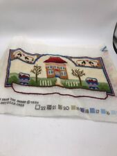 almost finished  Vintage needle point piece fro the heart   bx 16