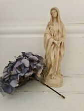 More details for french antique madonna holding flowers