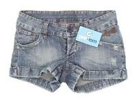 Womens Animal Blue Denim Shorts Size 8/L3