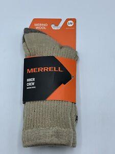 Merrell Women's 1 Pack Merino Wool Hiker, Oatmeal, Size Small