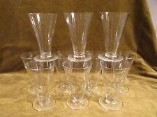 10 flutes à champagne 17cl cristal Daum Nancy art deco crystal champagne flutes