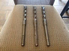 "LOT OF 3 NEW 1"" X 13"" MASONRY BITS TO FIT HILTI TE52, TE60, TE72, TE92 DRILLS"