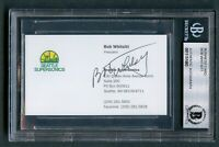 Bob Whitsitt signed autograph auto Seattle Supersonics Business Card BAS Slabbed