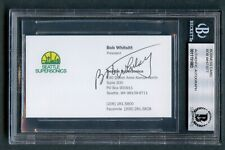 Bob Whitsitt Firmado Autógrafo Auto Seattle Supersonics Negocios Tarjeta Bas O