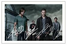 JENSEN ACKLES, SHEPPARD COLLINS JARED PADALECKI SUPERNATURAL SIGNED PHOTO PRINT