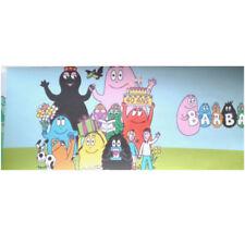 Bordo in fascia da parato carta Barbapapa' colorato per cameretta bambini 3010