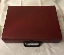 Vintage Red Storage Case For 45 Cassette Tapes V G C