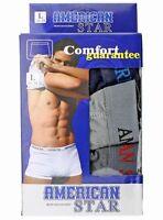 Lot 3 Mens Cotton Boxer Shorts Underwear Trunk Bulge Stretch Briefs S M L XL 2XL
