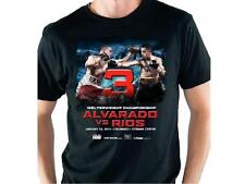 ALVARADO VS RIOS 2015 Colorado T-SHIRT Black Boxing Mens Cotton size M Medium