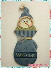 HP Hand Painted Snowman Door Hanger, Welcome Sign, Christmas Crafts, Winter