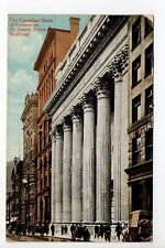 CANADA carte postale ancienne MONTREAL canadian bank of commerce St james street
