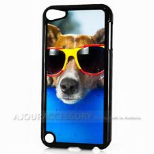 ( For iPod Touch 6 ) Back Case Cover AJ11306 Dog with Glass
