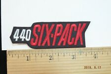 """Mopar 440 Six-Pack Iron-on Embroidered Patch 3.75"""""""