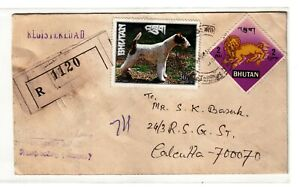 Bhutan-2 Diff. 30CH &2NU Stamps on Registered Cover tied with Postmark #15FD19