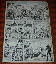 Marvel Comics Ghost Rider 47 Original Art Page 19 Perlin Biker Gang 1980