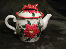 Bico China Teapot Holiday Poinsetta in excellent condition.