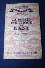 VLACHOS / La pensée politique de Kant