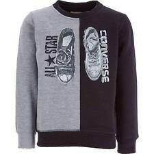 CONVERSE Boys Black & Grey Split Print Jumper 6 Years - New