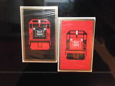 2 New Decks ROCK ISLAND Railroad PLAYING CARDS Unopened Cellophane RED & BLACK