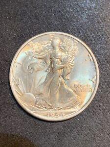 1934 D Walking Liberty Half Dollar AU/BU