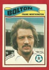 TOPPS FOOTBALLERS 1978 - ORANGE BACK TRADE CARD 235 - FRANK WORTHINGTON  (OK03)