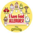 AllerMates Food Package ALLERGY ALERT STICKERS Dairy Wheat Allergen Nuts Peanuts