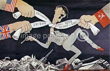 Strangle Hitler Soviet World War 2 Military Poster