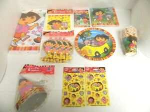 DORA THE EXPLORER PARTY SUPPLIES - TABLECOVER, CUPS, PLATES, ETC - YOU PICK