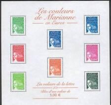 STAMP / TIMBRE FRANCE NEUF BLOC N° 45 ** LES COULEURS DE MARIANNES EN EUROS