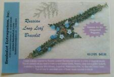 Russian Long Leaf Bracelet unstarted beading kit turquoise mint color Beadalot
