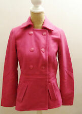 NWT Tommy Hilfiger Women's Pink Wool Coat Jacket Size S/P