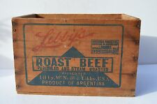 WONDERFUL SMALL SIZE LIBBERY'S ROAST BEEF ADVERTISING CRATE/BOX VIBRANT COLORS