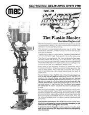 Mec 600 Jr Mark 5 V - Instruction Manual - all gauges - 12 pages - Copy