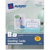 "Avery Quarter-Fold Card 4-1/4""x5-1/2"" 20 Cards/Env White 03266"