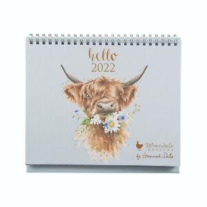 Hello 2022 Wrendale Designs Desk Calendar Highland Cow & Animal Designs