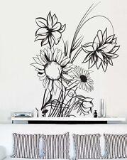 Vinyl Wall Decal Sticker Sunflower Floral Flower Plant