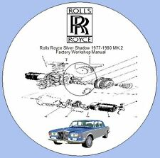 Rolls Royce Silver Shadow MK.2 1977-1980 Factory Workshop Manual