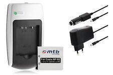 Chargeur+Batterie NP-60 NP60 pour Casio Exilim EX-FS10, S10, S12, Z9, Z19, Z20