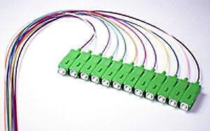 9/125/900um Single Mode SC/APC Color Coded Pigtail, 3 Meters(12 pcs/pack)