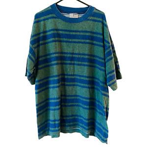 Bonds Vintage 90s T-Shirt Striped Oversized Loose Fit Tee Single Stitch Size XL