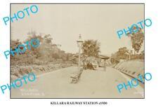 OLD LARGE PHOTO KILLARA RAILWAY STATION c1930 NSW