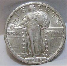 1918-D Standing Liberty Quarter - Tougher Date & Better Grade (XF)
