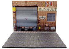 Diorama présentoir Renault Garage de la Poste - 1/18ème - #18-2-E-E-002