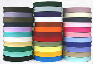 25 mm (1 INCH) COTTON BIAS BINDING TRIM-QUILTING/EDGING/BUNTING-LOTS OF COLOURS