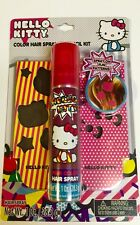 New Hello kitty Color Hair Spray & Stencil Kit New FREE WORLDWIDE SHIPPING