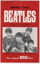 BEATLES SHIRT PHOTO HANG TAG U.K. ORIGINAL 1964 UNUSED